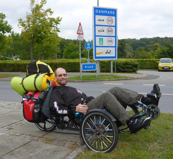 Stefan an der deutsch-dänischen Grenze bei Flensburg